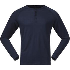 Bergans Lysebu Henley Uld langærmet skjorte Herrer, blå